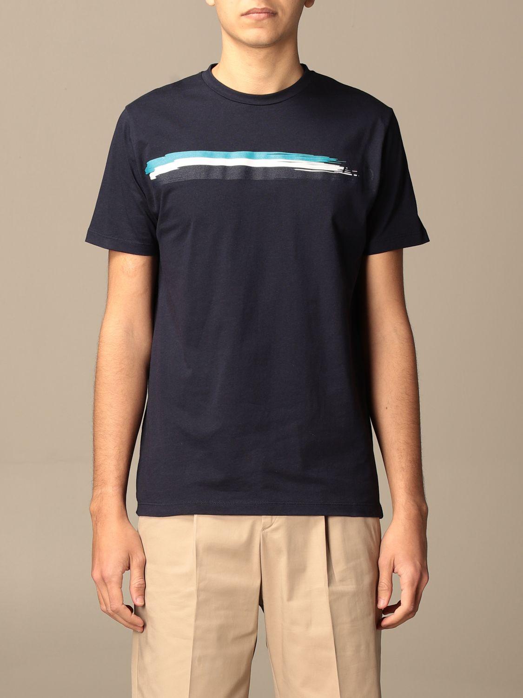 T-Shirt Alessandro Dell'acqua: Pullover herren Alessandro Dell'acqua blau 1