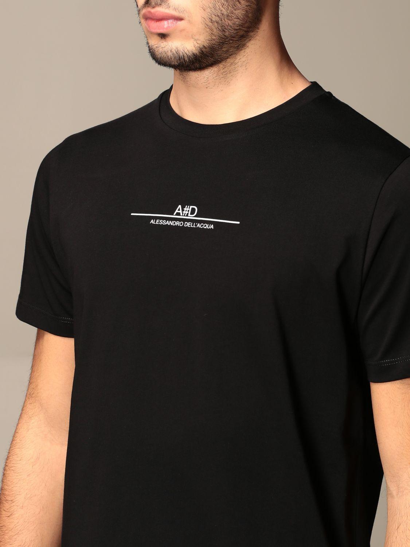 T-shirt Alessandro Dell'acqua: Jumper men Alessandro Dell'acqua black 4