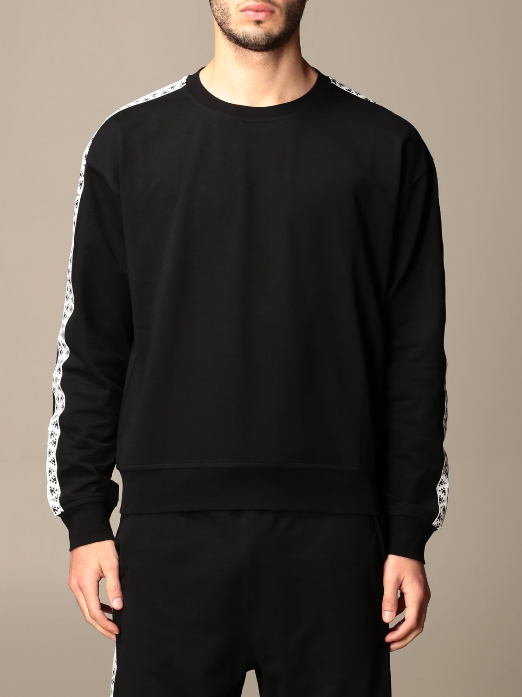 Sweatshirt Alessandro Dell'acqua: Alessandro Dell'acqua crewneck sweatshirt with patterned bands black 1