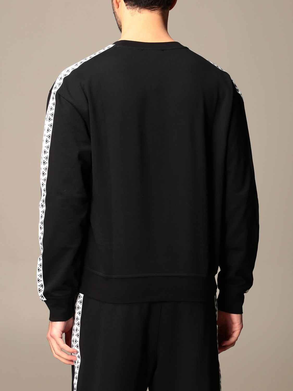 Sweatshirt Alessandro Dell'acqua: Alessandro Dell'acqua crewneck sweatshirt with patterned bands black 3