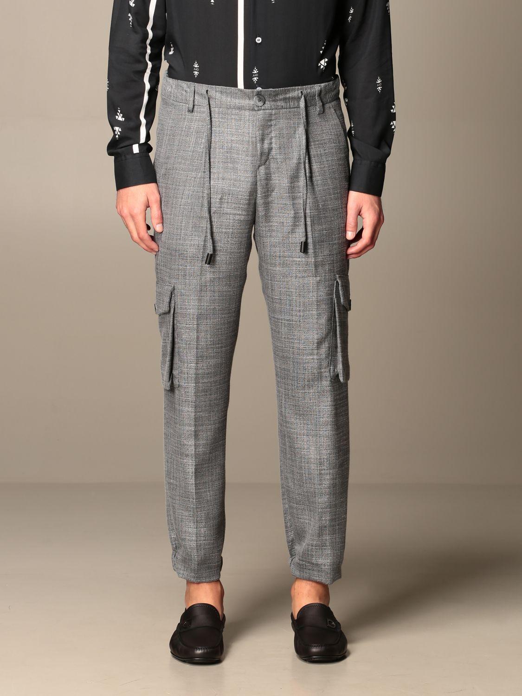 Trousers Alessandro Dell'acqua: Trousers men Alessandro Dell'acqua grey 1