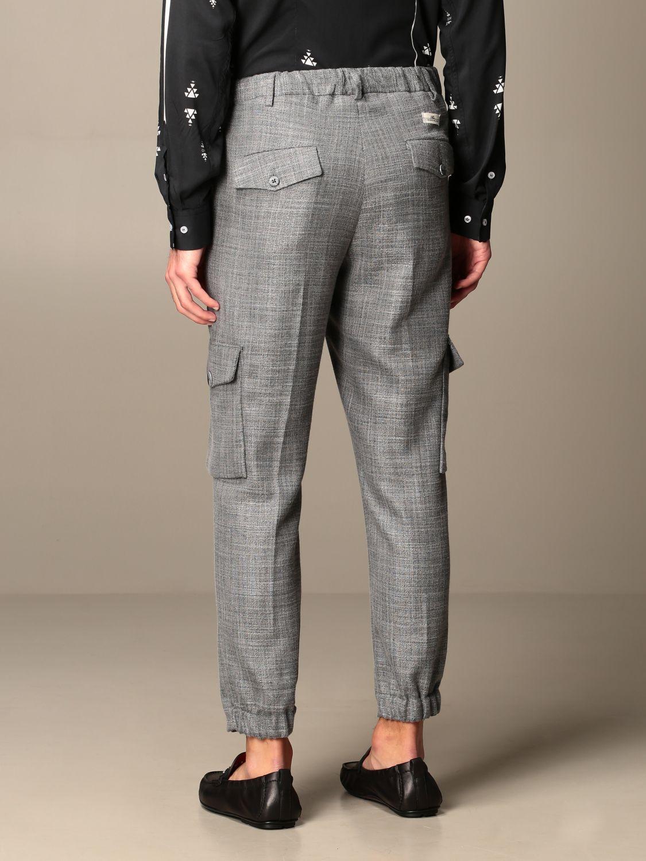 Trousers Alessandro Dell'acqua: Trousers men Alessandro Dell'acqua grey 3