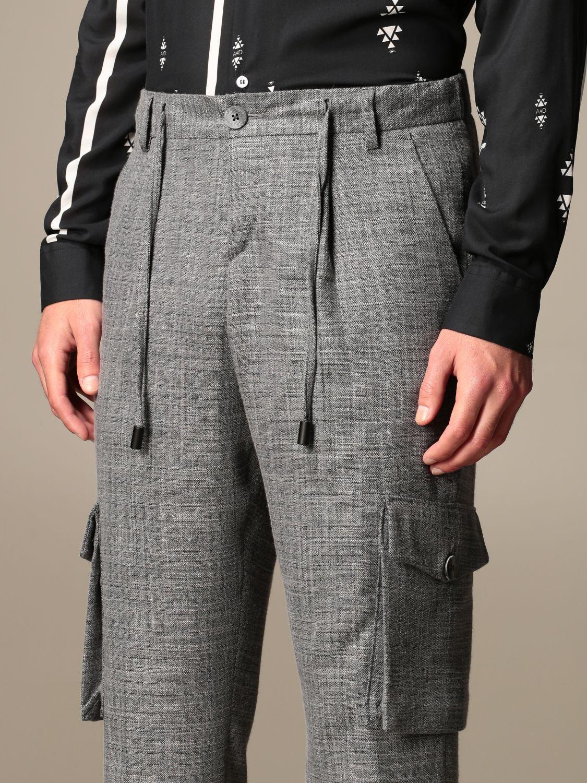 Trousers Alessandro Dell'acqua: Trousers men Alessandro Dell'acqua grey 4