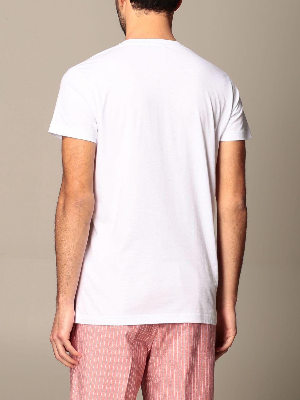 T-shirt Alessandro Dell'acqua: T-shirt Alessandro Dell'acqua in cotone con stampa bianco 3