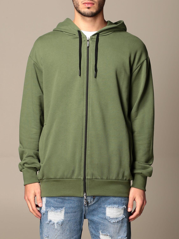 Sweatshirt Alessandro Dell'acqua: Alessandro Dell'acqua hooded sweatshirt with back print green 1