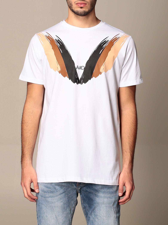 T-shirt Alessandro Dell'acqua: Pull homme Alessandro Dell'acqua blanc 1