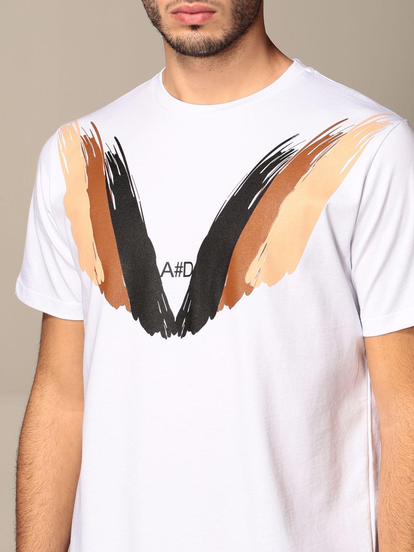 T-shirt Alessandro Dell'acqua: Pull homme Alessandro Dell'acqua blanc 4