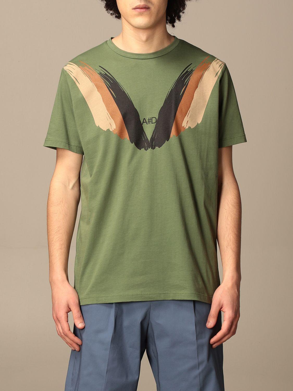 T-shirt Alessandro Dell'acqua: T-shirt Alessandro Dell'acqua in cotone con stampa militare 1