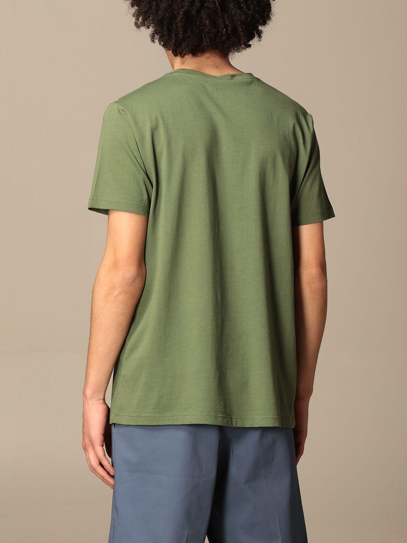 T-shirt Alessandro Dell'acqua: T-shirt Alessandro Dell'acqua in cotone con stampa militare 2