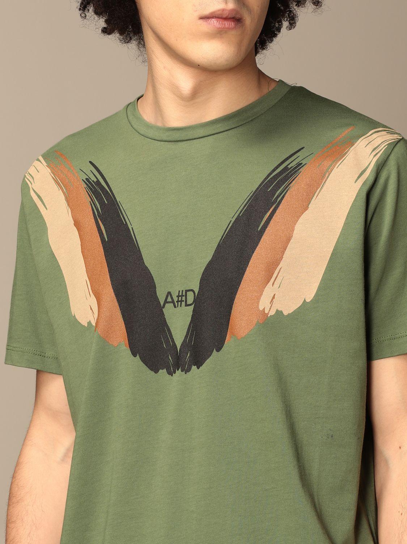 T-shirt Alessandro Dell'acqua: T-shirt Alessandro Dell'acqua in cotone con stampa militare 3