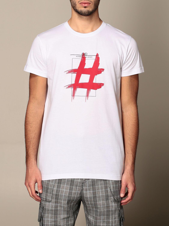 T-shirt Alessandro Dell'acqua: Jumper men Alessandro Dell'acqua white 1