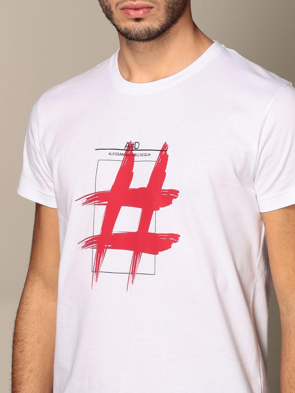 T-shirt Alessandro Dell'acqua: Jumper men Alessandro Dell'acqua white 4