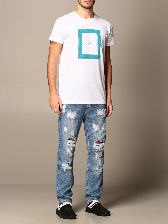 T-shirt Alessandro Dell'acqua: Jumper men Alessandro Dell'acqua white 2