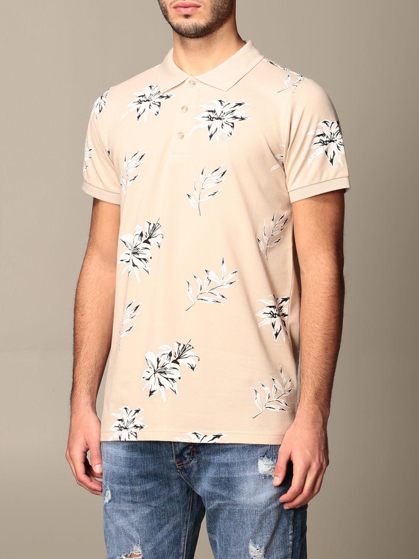 Polo shirt Alessandro Dell'acqua: Jumper men Alessandro Dell'acqua beige 3