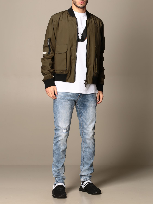 Jacket Alessandro Dell'acqua: Jacket men Alessandro Dell'acqua green 2