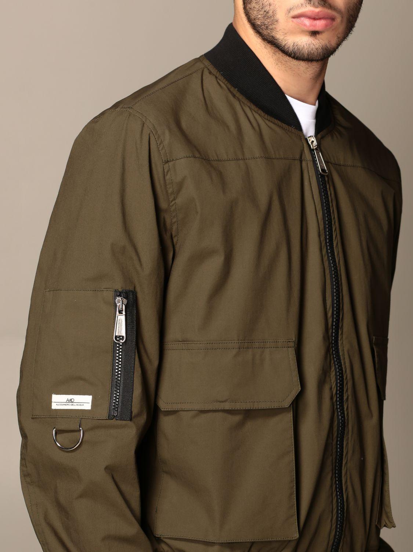 Jacket Alessandro Dell'acqua: Jacket men Alessandro Dell'acqua green 4