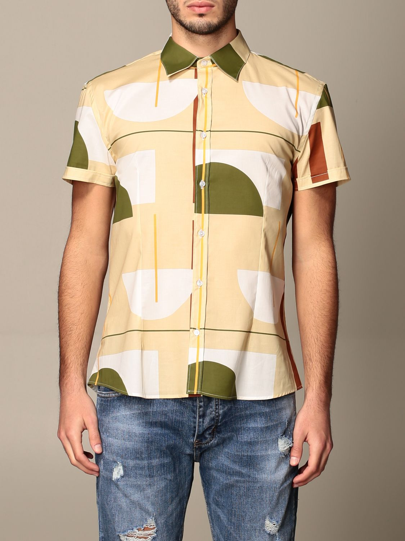 Shirt Alessandro Dell'acqua: Alessandro Dell'acqua shirt in patterned cotton beige 1