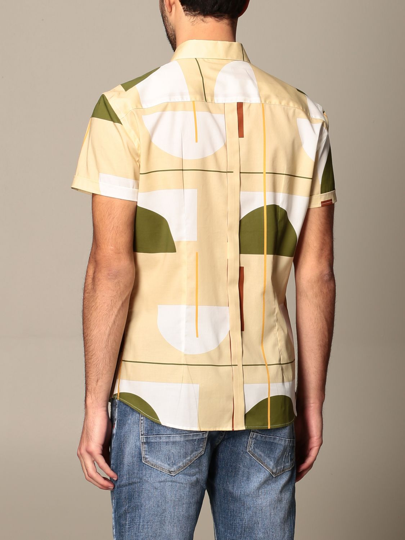 Shirt Alessandro Dell'acqua: Alessandro Dell'acqua shirt in patterned cotton beige 2