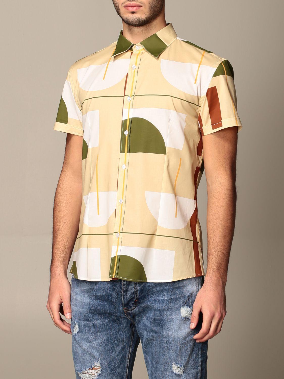 Shirt Alessandro Dell'acqua: Alessandro Dell'acqua shirt in patterned cotton beige 3
