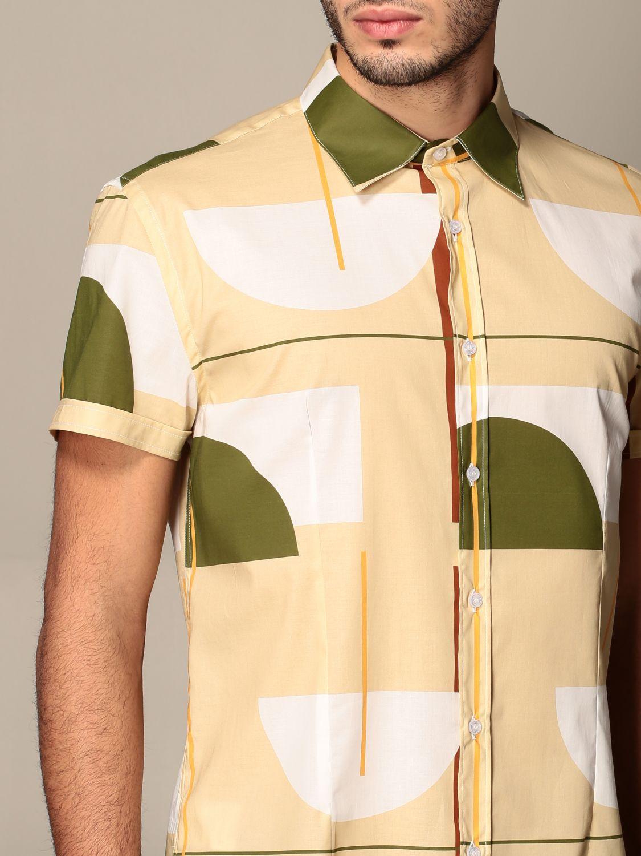 Shirt Alessandro Dell'acqua: Alessandro Dell'acqua shirt in patterned cotton beige 4