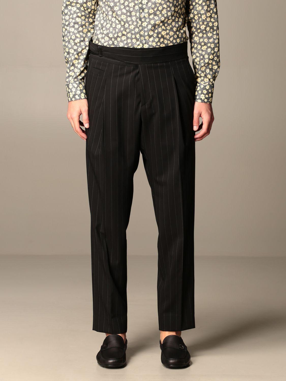 Pants Alessandro Dell'acqua: Alessandro Dell'acqua pinstriped trousers black 1