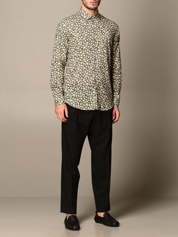 Pants Alessandro Dell'acqua: Alessandro Dell'acqua pinstriped trousers black 2