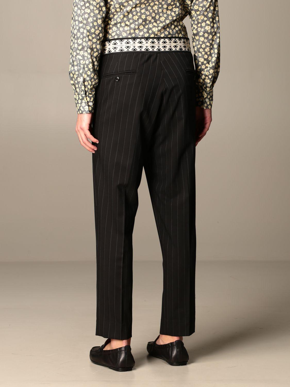 Pants Alessandro Dell'acqua: Alessandro Dell'acqua pinstriped trousers black 3