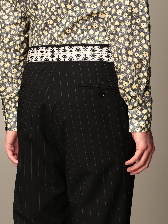 Pants Alessandro Dell'acqua: Alessandro Dell'acqua pinstriped trousers black 4