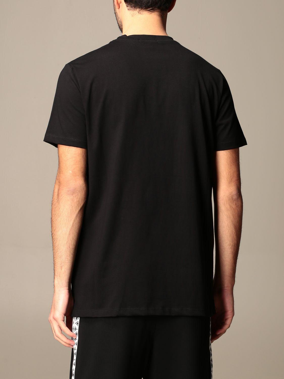 T-shirt Alessandro Dell'acqua: T-shirt Alessandro Dell'acqua in cotone con stampa elefante nero 3