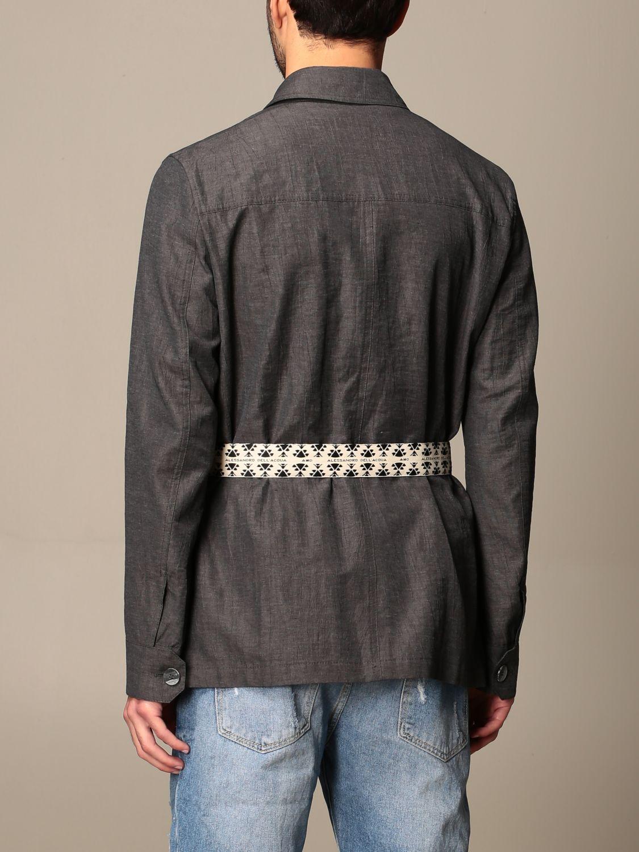 Camicia Alessandro Dell'acqua: Camicia Alessandro Dell'acqua con cinta a fascia grigio 3