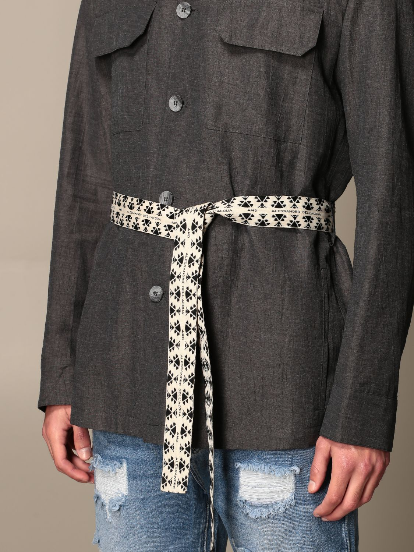 Camicia Alessandro Dell'acqua: Camicia Alessandro Dell'acqua con cinta a fascia grigio 4