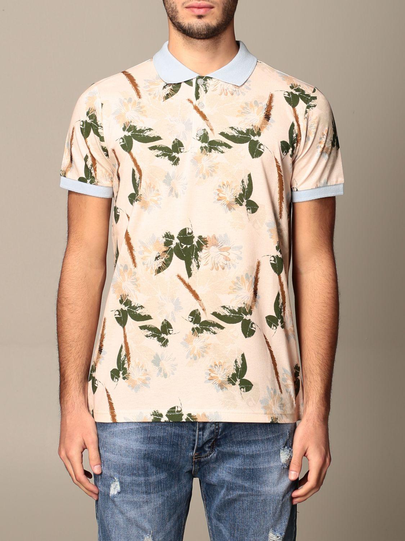 Polo shirt Alessandro Dell'acqua: Jumper men Alessandro Dell'acqua beige 1