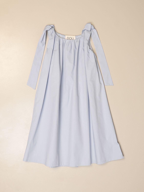 Dress Douuod: Wide Douuod dress with maxi straps sky blue 1