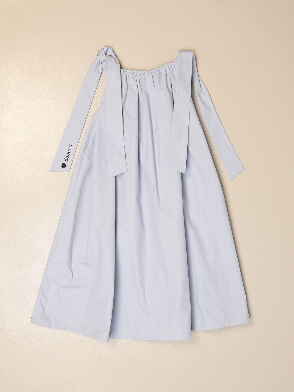 Dress Douuod: Wide Douuod dress with maxi straps sky blue 2