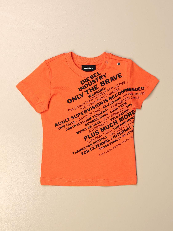 Camiseta Diesel: Camiseta niños Diesel naranja 1