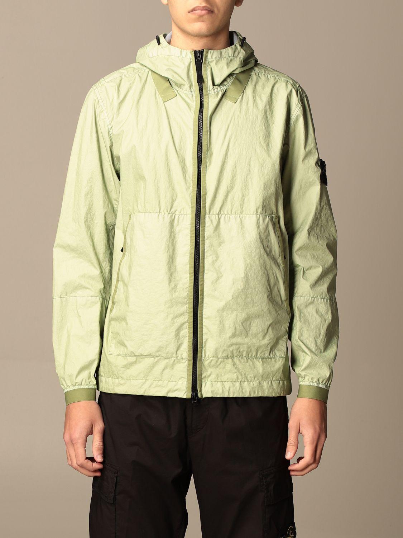 Jacket Stone Island: Stone Island nylon jacket with hood green 1