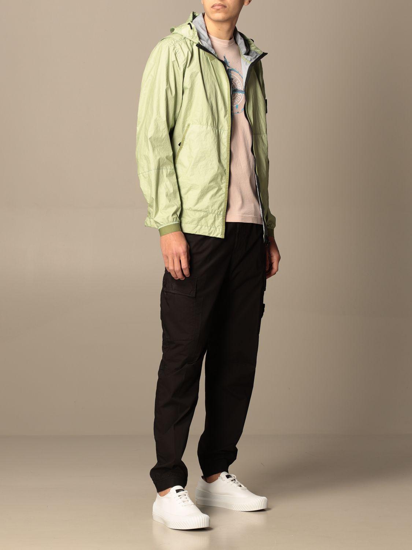 Jacket Stone Island: Stone Island nylon jacket with hood green 2