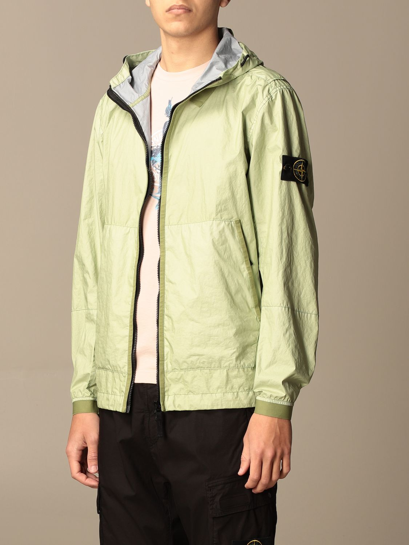 Jacket Stone Island: Stone Island nylon jacket with hood green 4