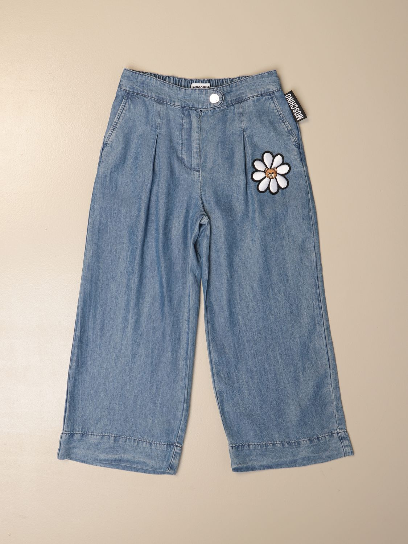 牛仔裤 Moschino Kid: 裤子 儿童 Moschino Kid 牛仔布 1