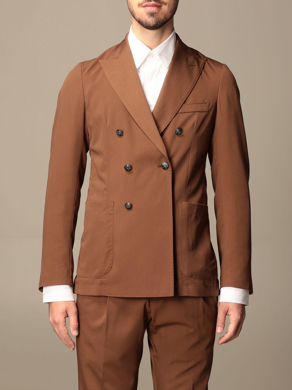 Blazer Alessandro Dell'acqua: Jacket men Alessandro Dell'acqua tobacco 1