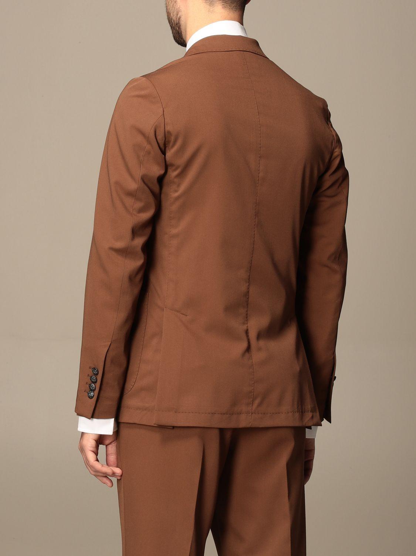 Blazer Alessandro Dell'acqua: Jacket men Alessandro Dell'acqua tobacco 3