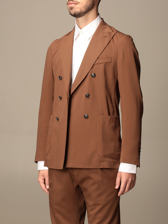 Blazer Alessandro Dell'acqua: Jacket men Alessandro Dell'acqua tobacco 4