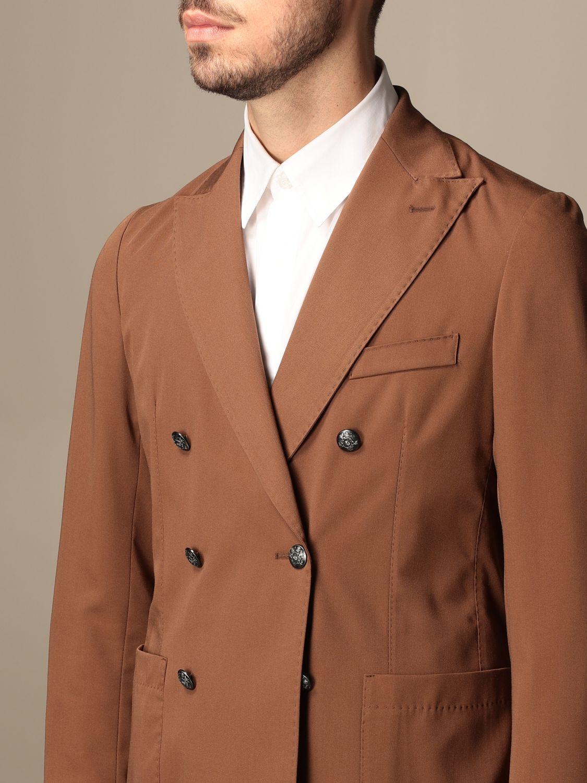 Blazer Alessandro Dell'acqua: Jacket men Alessandro Dell'acqua tobacco 5