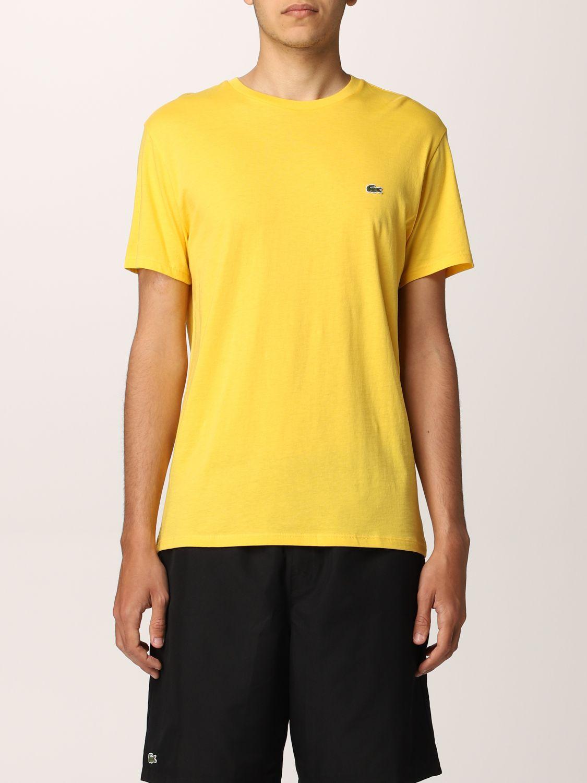 Camiseta Lacoste: Camiseta hombre Lacoste amarillo 1