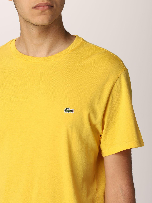 Camiseta Lacoste: Camiseta hombre Lacoste amarillo 3