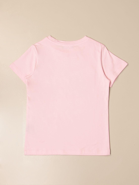 T-shirt Balmain: T-shirt Balmain in cotone con logo rosa 2