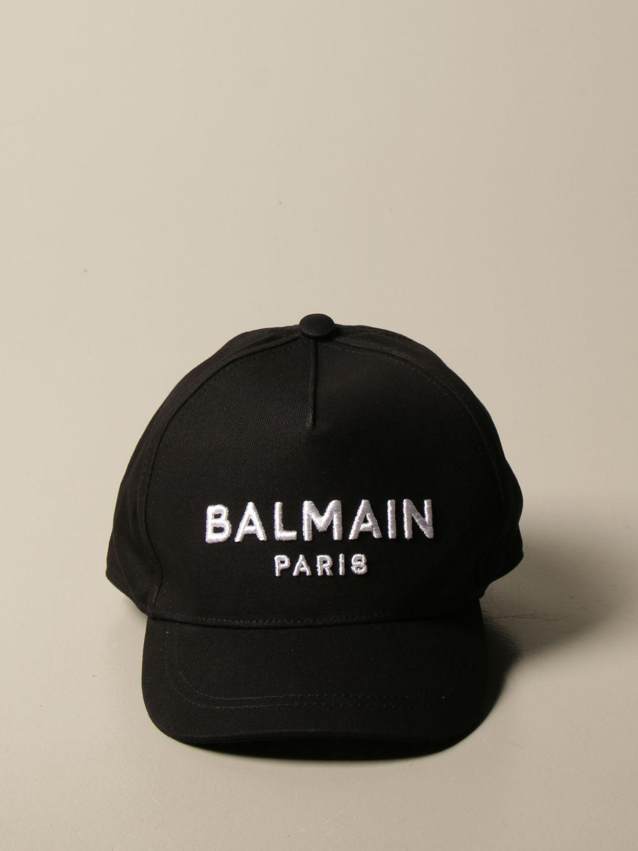 Шапка Balmain: Шапка Детское Balmain черный 2