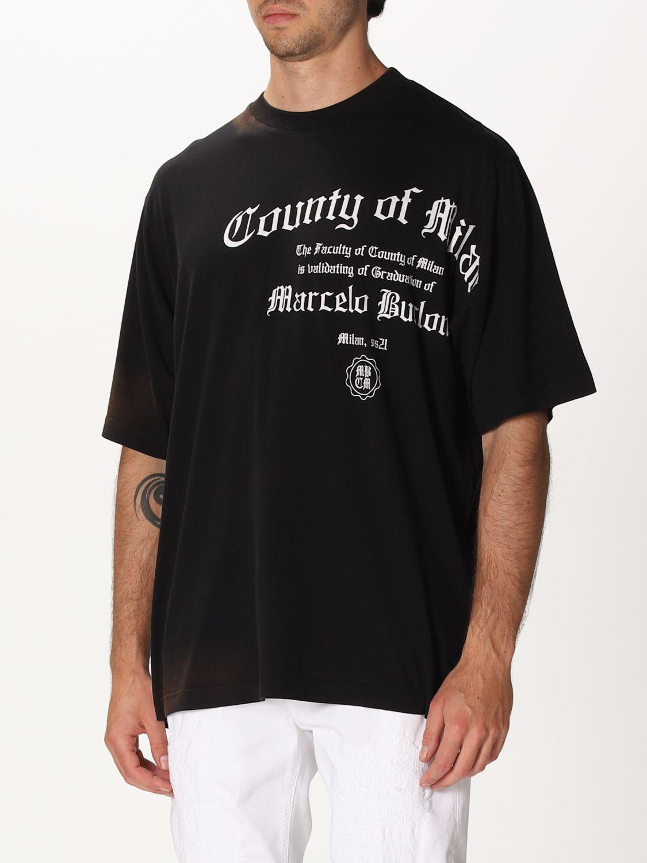 Camiseta Marcelo Burlon: Camiseta hombre Marcelo Burlon negro 3