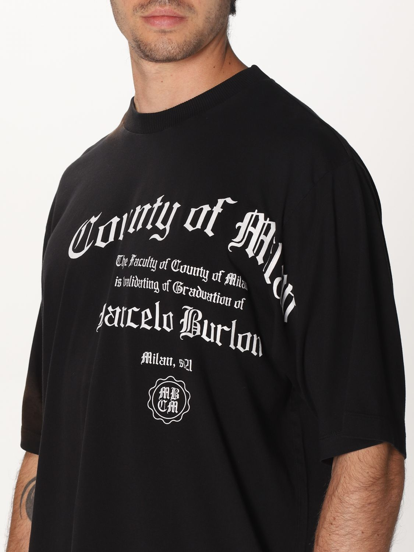 Camiseta Marcelo Burlon: Camiseta hombre Marcelo Burlon negro 4