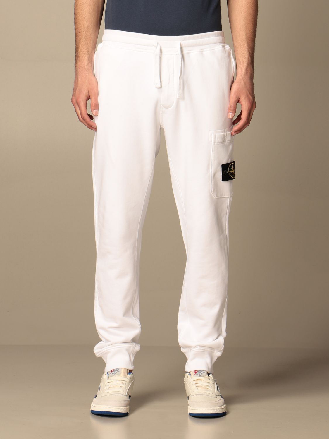 Trousers Stone Island: Stone Island jogging trousers in cotton white 1